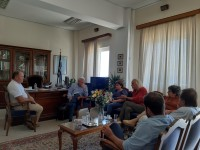 Συνάντηση Αντιπεριφερειάρχη Λασιθίου με τον βουλευτή Μ.Θραψανιώτη για θέματα του νομού
