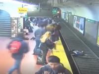 Γυναίκα έπεσε στις γραμμές του μετρό και γλίτωσε στο τσακ, ο συρμός σταμάτησε χιλιοστά της