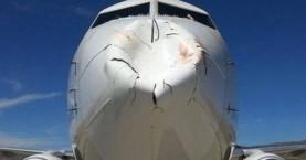 Δείτε την απίστευτη ζημιά που έκανε σε Boeing η σύγκρουση με πτηνό