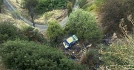 Αυτοκίνητο σε γκρεμό - Σκοτώθηκε ηλικιωμένος, τραυματισμένη η σύζυγός του