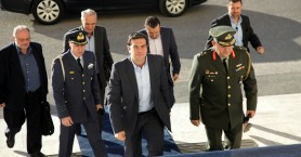 Ο Τσίπρας στο Υπουργείο Εθνικής Άμυνας