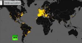 Εντυπωσιακό βίντεο δείχνει την έκρηξη του twitter όταν ανακοινώθηκε το ΟΧΙ