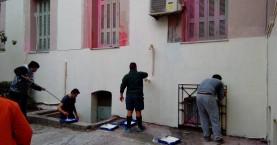 Μπράβο! Πήραν τα πινέλα τους & έβαψαν εθελοντικά τα δικαστήρια Ηρακλείου