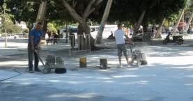 Παρελθόν η ολισθηρότητα στην Πλατεία Ελευθερίας του Ηρακλείου