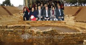 Εγκαίνια αρχαίου θεάτρου της Απτέρας απο τον Υπ.Πολιτισμού (φωτο-βίντεο)