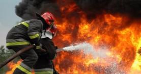 Φωτιά κοντά στο Κολυμπάρι εν μέσω θυελλωδών ανέμων