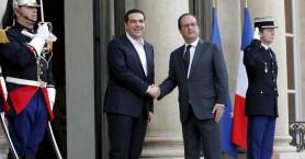 Χωρίς κοινές δηλώσεις έληξε η συνάντηση Ολάντ - Τσίπρα