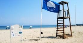 Ανάρτηση γαλάζιων σημαιών σε παραλίες της Κισάμου