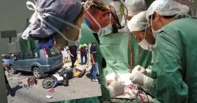 Πολύωρη εγχείρηση για να σωθεί το πόδι του δικυκλιστή (βίντεο)