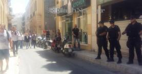 Παρουσία ισχυρής αστυνομικής δύναμης η επίσκεψη Κατρούγκαλου στο Λασίθι