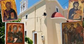 Ιερόσυλοι έκλεψαν εικόνες απο τον Ι.Ν. Αγ. Πάντων Ανατολής Ιεράπετρας