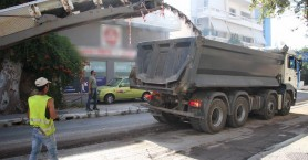 Κλειστός κεντρικός δρόμος των Χανίων λόγω έργων φωτο)