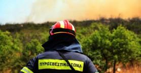 Πυρκαγιά στις Βρύσες Αποκορώνου και στον Αλικιανό