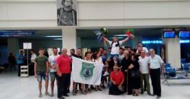 Ζεστή υποδοχή στον Αναστασάκη στο Αεροδρόμιο Χανίων (φωτο)