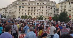 Σε κλοιό διαδηλωτών η Θεσσαλονίκη για την ομιλία Τσίπρα στη ΔΕΘ