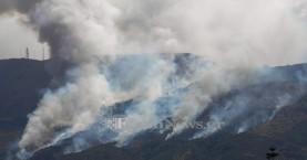 Στάχτη δεκάδες στρέμματα από την πυρκαγιά  στη Μαλάξα