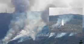 Υπό μερικό έλεγχο η φωτιά στη Μαλάξα από εμπρησμό (φωτο - βίντεο)
