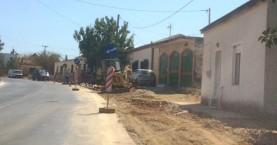 Νέα πεζοδρόμια στο Κοντομαρί απο τον Δήμο Πλατανιά