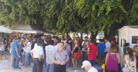 Συγκέντρωση διαμαρτυρίας στην Δημοτική Αγορά από τους εκπαιδευτικούς (φωτο)