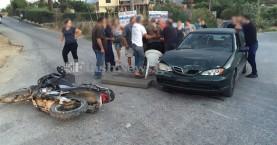 Τροχαίο ατύχημα με τραυματία οδηγό μοτοσικλέτας (φωτο)