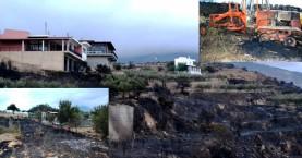 Μεγάλες καταστροφές από την πυρκαγιά στην Κίσσαμο (φωτο)