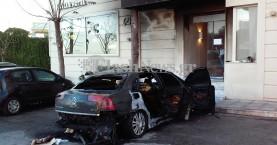 Χανιά: Παρανάλωμα του πυρός ένα όχημα - Ζημιές σε είσοδο ξενοδοχείου (φωτο)