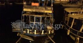 Φωτιά και σε τρίτο σκάφος στο Ηράκλειο