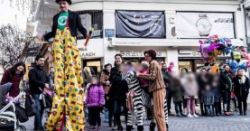 Η εορταστική εκδήλωση στην οδό Μουσούρων στα Χανιά