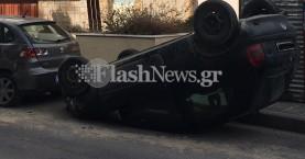 Ντελαπάρισε αυτοκίνητο στο Ηράκλειο -
