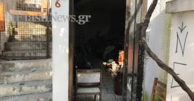 Φωτιά σε αποθήκη πίσω από το ωδείο Χανίων (φωτό)