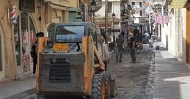 Ρέθυμνο: Διακοπή λόγω Πάσχα στα έργα της οδού Αρκαδίου