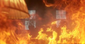 Μεγάλη πυρκαγιά σε παλιό εμφιαλωτήριο στις Αρχάνες