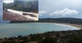 Ισχυρή (καλή) βροχόπτωση στην Γαύδο που απέκτησε και….ποτάμι (φωτο-βίντεο)