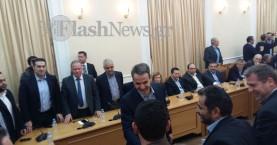 Στην Κρήτη ο Κ. Μητσοτάκης - Τι είπε στη σύσκεψη με τους δημάρχους (φωτο)