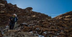 Ο Ορειβατικός στην κορυφή Στέρνες στα Λευκά Όρη