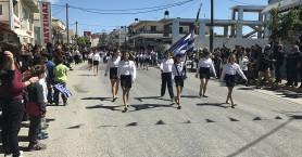 Ενθουσιασμός και πλήθος κόσμου στην παρέλαση στο Γάζι