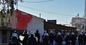 Αντιφασιστική διαδήλωση στα εγκαίνια γραφείων της Χρυσής Αυγής στα Χανιά