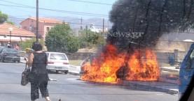 Μπουρλότο αυτοκίνητο στα  Χανιά – Καταστράφηκε τελείως (φωτο - βίντεο)
