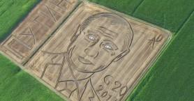 Το πορτρέτο του Βλ. Πούτιν «φύτρωσε» σε χωράφι (βίντεο)
