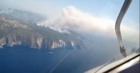 Η πυρκαγιά της Αναφωνήτριας από ύψος 6.000 πόδια - Δείτε το βίντεο
