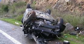 Ανατροπή αυτοκινήτου στον ΒΟΑΚ- Τραυματίστηκε μια κοπέλα