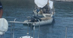 SOS από σκάφος στην περιοχή των Ματάλων!