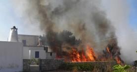 Μεγάλη πυρκαγιά στα Κύθηρα: Στάχτη το 1/3 του νησιού
