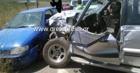 Τροχαίο με 4 οχήματα σε δρόμο της Μεσσαράς - Εγκλωβίστηκε ηλικιωμένος(φωτο)