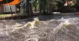 Ο σεισμός στο Μεξικό μετέτρεψε το ποτάμι σε φουρτουνιασμένη θάλασσα(βίντεο)