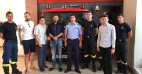 Αντιπροσωπεία της ΟΝΝΕΔ στον Πυροσβεστικό Σταθμό Χανίων