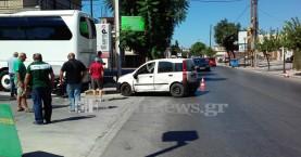 Τροχαίο με τραυματισμό οδηγού δικύκλου στα Χανιά (φωτο)