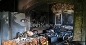 Σπίτι στην Κάντανο τυλίχτηκε στις φλόγες (φωτο)