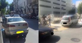 Χανιά:Τα πλαστικά κολονάκια-διακοσμητικά και το πεζοδρόμιο-πάρκινγκ (φωτό)