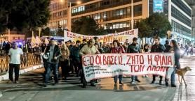 Διαδήλωση διαμαρτυρίας για την επίθεση σε Χανιώτη από νατοϊκούς στρατιώτες